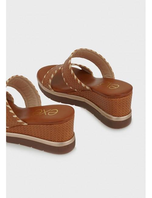 Γυναικείο παπούτσι flat EXE M47009303U52  οικολογικό δέρμα ΤΑΜΠΑ ΣΤΑΜΠΑ